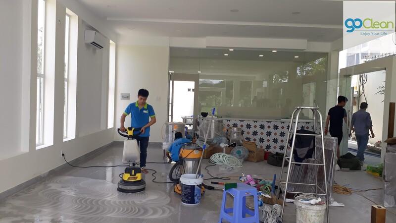 vệ sinh sàn nhà sau xây dựng