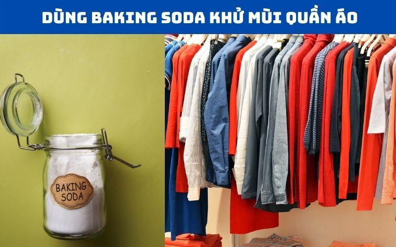 Khử mùi tủ quần áo bằng baking soda